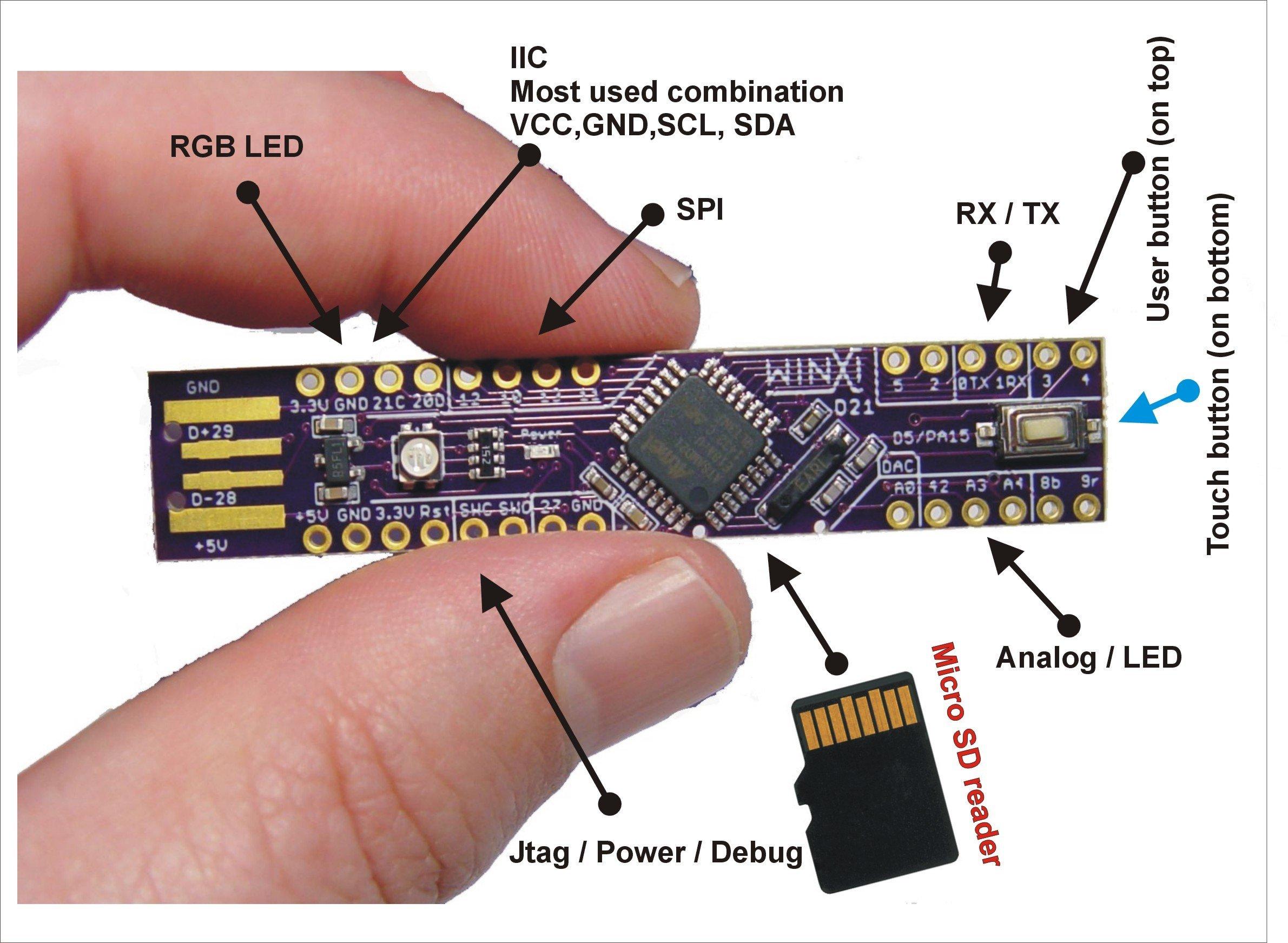 WINXI: Arduino Zero compatible stick – OSH Park