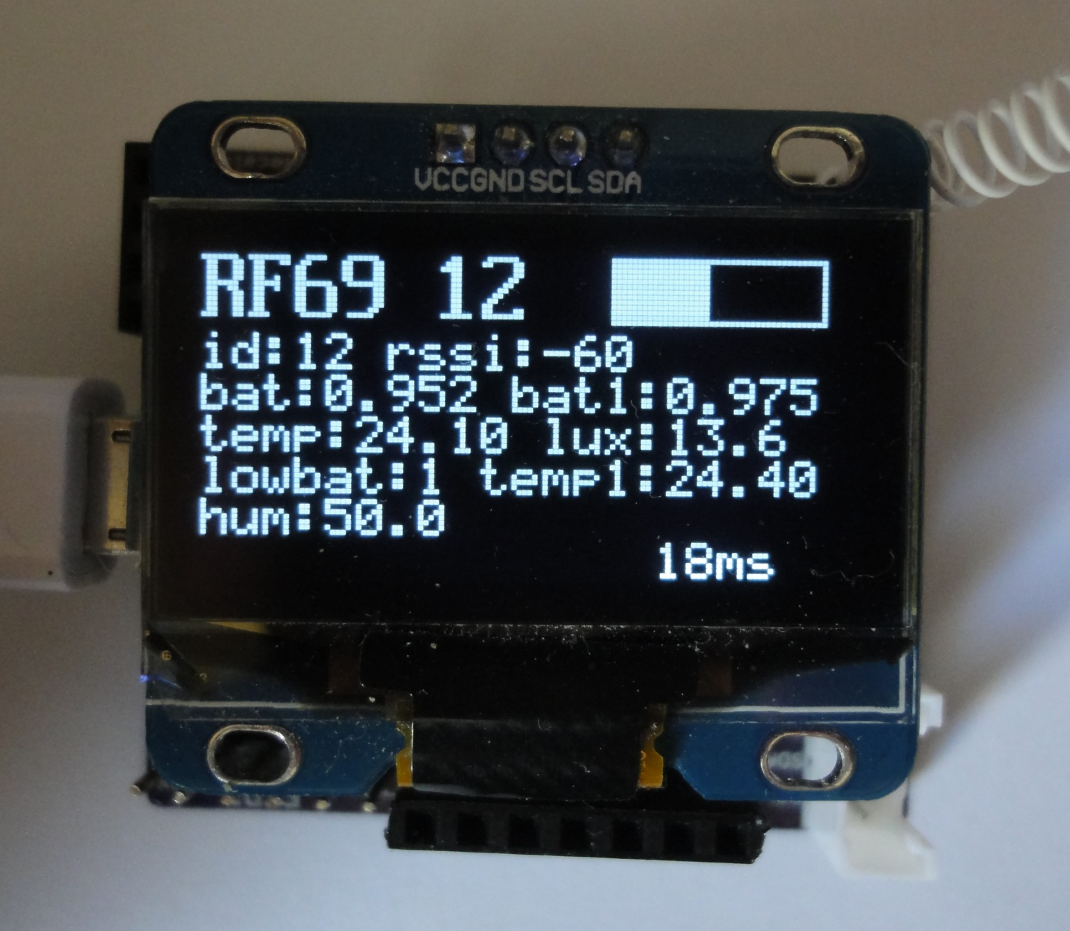 Rf Gateway With Display For Particle Photon Osh Park