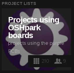 Source: https://hackaday.io/list/10718-projects-using-oshpark-boards