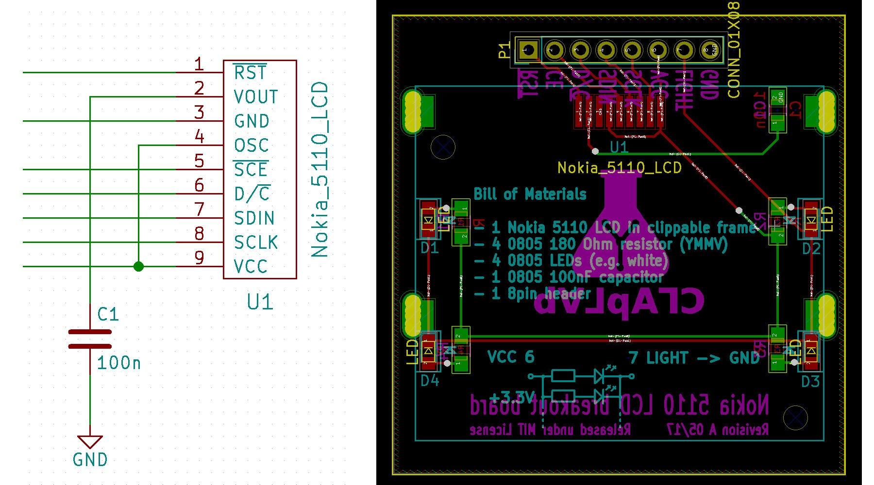 KiCad footprint for Nokia 5110 LCD – OSH Park